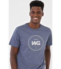 camiseta wg debossing azul - kanui