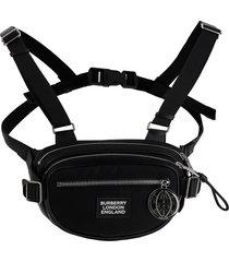 burberry designer men's bags, black econyl belt pack