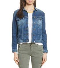 women's frame le vintage denim jacket, size small - blue