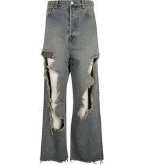 balenciaga destroyed baggy jeans