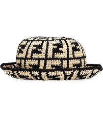 fendi straw hat