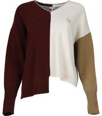 anagram asymmetric sweater multicolor
