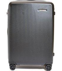 sympatico medium expandable spinner suitcase - black