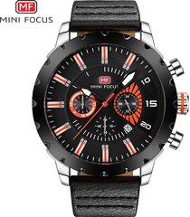 reloj para hombre/correa de piel/ reloj para hombre mini focus-naranja
