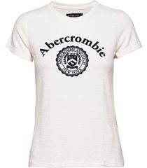 cozy logo tee t-shirts & tops short-sleeved vit abercrombie & fitch