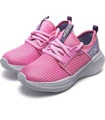 tenis running rosa-violeta skechers valor