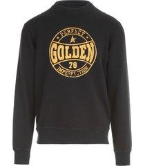 golden goose sweatshirt archibald regular crewneck/ golden 78 perfect imperfection/ water ruined effect