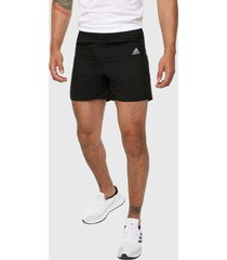 pantaloneta negro-blanco adidas performance own the run