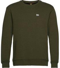 plain crew sws sweat-shirt tröja grön lee jeans