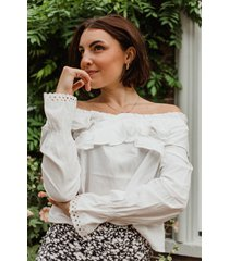 femme9 blouse wit sana