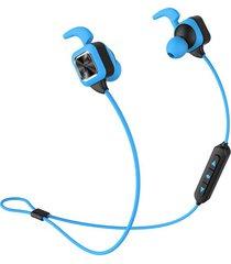 audifonos bluetooth, ks plus auriculares audifonos bluetooth manos libres  inalámbricos deportivos auriculares estéreo bajos con gancho de oreja micrófono voz rápida de reducción de ruido manos libres de sudor para teléfono (azul)