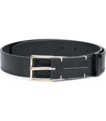 altuzarra snakeskin effect classic belt - black