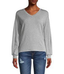 philosophy women's stretch fleece top - light grey - size m