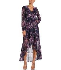 nightway petite printed high-low dress