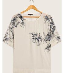 blusa manga 3/4 estampado-xs