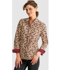 blouse mona beige::rood::olijf
