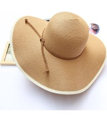 donna cappello di paglia panama pieghevole estiva da viaggio con tesa larga protettiva da sole