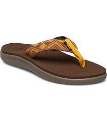 w voya flip shoes summer shoes flat sandals brun teva