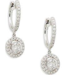 diana m jewels women's 14k white gold & 1.2 tcw diamond dangle drop earrings