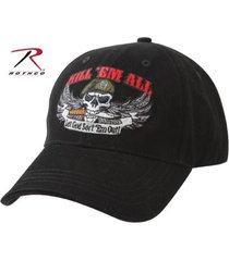 black special forces us military kill em all let god sortem out baseball hat cap