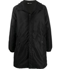 valentino buckle-detail mid-length parka - black