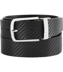 calvin klein men's reversible flat-strap leather belt
