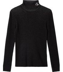 suéter rib  negro calvin klein
