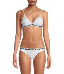 zadig & voltaire women's whitehaven bikini set - white - size 40 (l)
