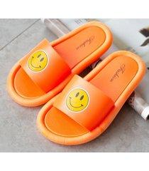 pantuflas de verano de fondo suave para mujer-naranja