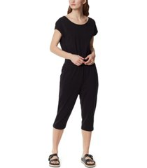 frayed french terry jumpsuit