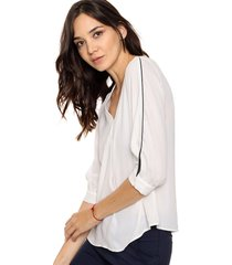 blusa natural etam escote