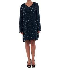 jurk vero moda 10191185 vmsissy 3/4 mini dress d2 lcs navy blazer