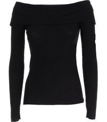 parosh sweater l/s bare shoulders w/ribs