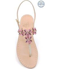 dea sandals bagni di tiberio jewel thong sandals