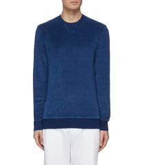 'pierce' towelling sweatshirt