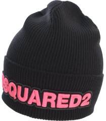 dsquared2 wool light patch knit hat