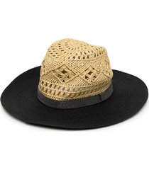 brunello cucinelli woven panelled sun hat - brown