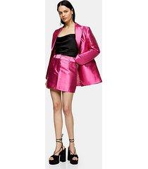 pink satin mini skirt - pink