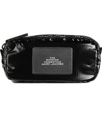 marc jacobs women's logo nylon compact wallet - stormy weather
