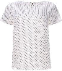 blusa cremallera trasera color blanco, talla 10