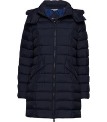 d2. classic down long jacket gevoerde lange jas blauw gant