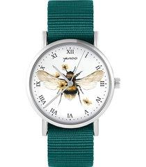 zegarek - bee natural - morski, nylonowy