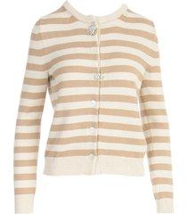 semicouture elise striped cardigan