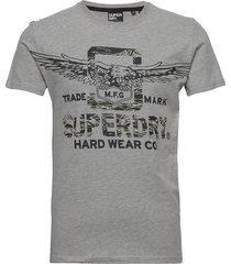 desert classic tee t-shirts short-sleeved grå superdry