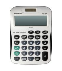 calculadora de mesa procalc pc257 12 dígitos preto e cinza
