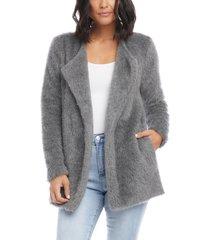 women's karen kane brushed sweater jacket, size x-large - grey