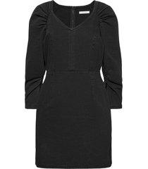 viverbena 3/4 sleeve denim dress kort klänning grå vila