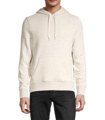 michael kors men's regular-fit cotton-blend hoodie - breeze blue - size xl
