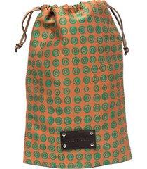 10 corso como monogram print small travel bag - orange