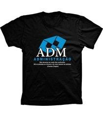 camiseta lu geek manga curta administração preto